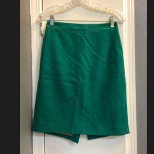 J. Crew green pencil skirt